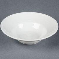 Tuxton FPD-087 Pacifica 10.5 oz. Porcelain White Embossed Rim China Soup Bowl - 24 / Case