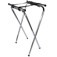 """Lancaster Table &amp&#x3b; Seating 19"""" X 16"""" X 31"""" Folding Chrome Double Bar Tray Stand"""