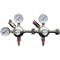 Micro Matic 642-BATTERY Premium Series Double Gauge Dual Primary CO2 Low-Pressure Regulator Battery with 2 Shut-Offs