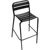 BFM Seating DV552BL Vista Outdoor / Indoor Stackable Black Aluminum Bar Height Chair