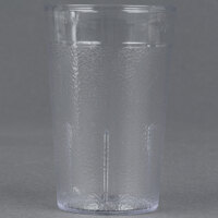 Dinex DX550107 5 oz. Clear Pebbled SAN Tumbler - 72 / Case