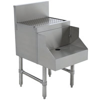 Advance Tabco PRDB-19-18 Prestige Series Stainless Steel Underbar Blender Station with Drainboard - 18 inch x 25 inch
