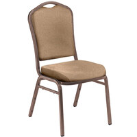 National Public Seating 9351-CV Silhouette Beige Stackable Padded Chair with Coppervein Frame