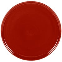 Homer Laughlin 575326 Fiesta Scarlet 12 inch China Pizza / Baking Tray - 4/Case