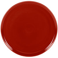 Homer Laughlin 575326 Fiesta Scarlet 12 inch China Pizza / Baking Tray - 4 / Case