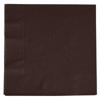 Creative Converting 803038B Chocolate Brown 2-Ply Beverage Napkin - 600 / Case