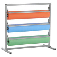 Bulman T368R-18 18 inch Three Deck Tower Paper Rack with Straight Edge Blade