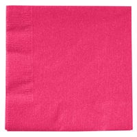 Creative Converting 139197154 Hot Magenta 2-Ply Beverage Napkin - 600 / Case