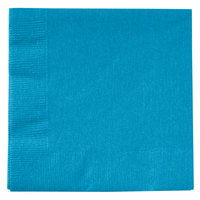 Creative Converting 803131B Turquoise Blue 2-Ply Beverage Napkin - 600/Case