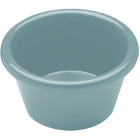 Elite Global Solutions R3SM Cottage Vintage California 3 oz. Cameo Blue Melamine Ramekin