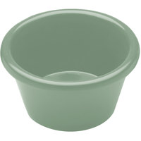 Elite Global Solutions R3SM Cottage Vintage California 3 oz. Hemlock Green Melamine Ramekin
