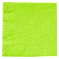 Creative Converting 803123B Fresh Lime Green 2-Ply Beverage Napkin - 600/Case
