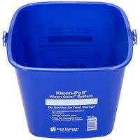 San Jamar KP196KCBL 6 Qt. Blue Cleaning Kleen-Pail