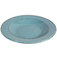 Elite Global Solutions DB10T Trestles Vintage California 18 oz. Cameo Blue Round Double-Line Pasta / Soup Bowl