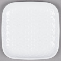 GET CS-6000-CN-W Coralline 6 inch White Square Melamine Plate - 24/Case