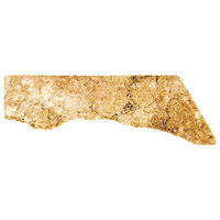 Elite Global Solutions QS2413R Rocky Mountain High Rust Granite 23 3/4 inch x 13 inch Riser Platter with 3 Straight Edges and Irregular Front - Right