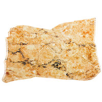 Elite Global Solutions QS1611 Rocky Mountain High Rust Granite 16 inch x 11 inch Irregular Shape Display Stone Platter