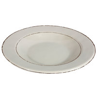Elite Global Solutions DB878T Trestles Vintage California 12 oz. Vanilla Round Double-Line Pasta / Soup Bowl