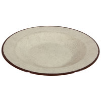 Elite Global Solutions DB10M Mojave Vintage California 18 oz. Vanilla Round Crackle Pasta / Soup Bowl