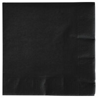Creative Converting 57134B Black Velvet 3-Ply Beverage Napkin - 500 / Case