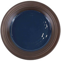 Elite Global Solutions D897GM Durango 9 inch Lapis & Chocolate Round Two-Tone Melamine Plate