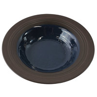 Elite Global Solutions DB651GM Durango 10 oz. Lapis & Chocolate Round Two-Tone Melamine Bowl