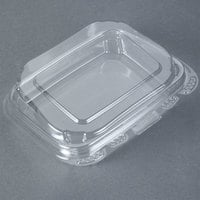 Tamper-Evident Recycled PET 13 oz. Clear Takeout Container - 50 / Pack