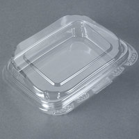 Tamper-Evident Recycled PET 13 oz. Clear Takeout Container - 50/Pack