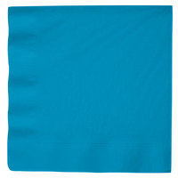 Creative Converting 593131B Turquoise Blue 3-Ply Paper Dinner Napkin - 250/Case