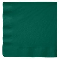 Creative Converting 593124B Hunter Green 3-Ply Paper Dinner Napkins - 250 / Case