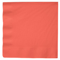 Creative Converting 593146B Coral Orange 3-Ply Paper Dinner Napkin - 250/Case
