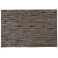Snap Drape PMBOCBRN Cityscape 12 inch x 18 inch Boca Brown PVC Placemat - 12 / Pack