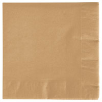 Creative Converting 573276B Glittering Gold 3-Ply Beverage Napkin - 500/Case