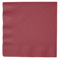 Creative Converting 593122B Burgundy 3-Ply Paper Dinner Napkins - 250/Case