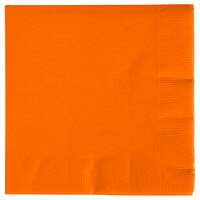 Creative Converting 57191B Sunkissed Orange 3-Ply Beverage Napkin - 500 / Case