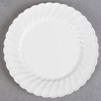 WNA Comet CW6180W Classicware 6 inch White Plastic Plate - 180/Case