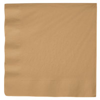 Creative Converting 593276B Glittering Gold 3-Ply Paper Dinner Napkin   - 250/Case