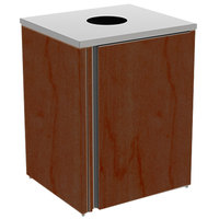 Lakeside 3410 Stainless Steel Refuse Station with Top Access and Red Maple Laminate Finish - 26 1/2 inch x 23 1/4 inch x 34 1/2 inch