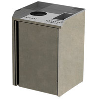 Lakeside 3420 Stainless Steel Liquid / Cup Refuse Station with Top Access and Beige Suede Laminate Finish - 26 1/2 inch x 23 1/4 inch x 34 1/2 inch