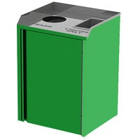 Lakeside 3420 Stainless Steel Liquid / Cup Refuse Station with Top Access and Green Laminate Finish - 26 1/2 inch x 23 1/4 inch x 34 1/2 inch
