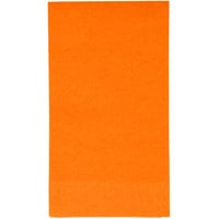 Creative Converting 95191 Sunkissed Orange 3-Ply Guest Towel / Buffet Napkin - 192/Case