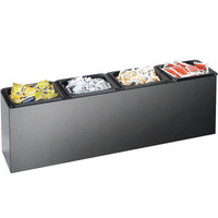 Cal-Mil 495 Classic Black Multi-Purpose Food Station - 6 inch x 27 inch x 9 inch