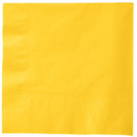 Creative Converting 581021B School Bus Yellow 3-Ply 1/4 Fold Luncheon Napkin - 500/Case