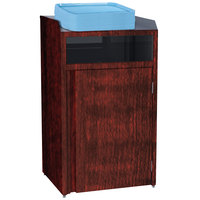 Lakeside 4410 Stainless Steel Refuse Station with Front Access and Red Maple Laminate Finish - 26 1/2 inch x 23 1/4 inch x 45 1/2 inch