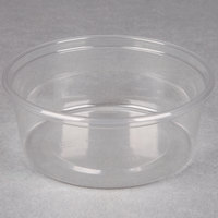Choice 8 oz. Clear Plastic Round Deli Container - 500 / Case