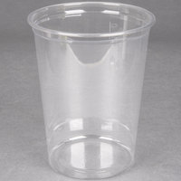 Choice 32 oz. Clear Plastic Round Deli Container - 50 / Pack