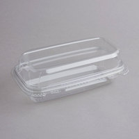9 inchx 5 inch x 3 inch Tamper-Evident Recycled PET Hoagie Takeout Container and Lid - 50/Pack