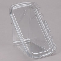 Tamper-Evident Recycled PET Sandwich Wedge Container - 50/Pack