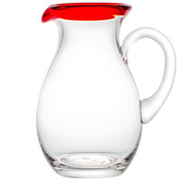 Libbey 92317R Aruba 56 oz. Pitcher with Red Rim - 6/Case