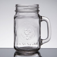 Core 16 oz. County Fair Mason Jar / Drinking Jar with Handle - 12/Case